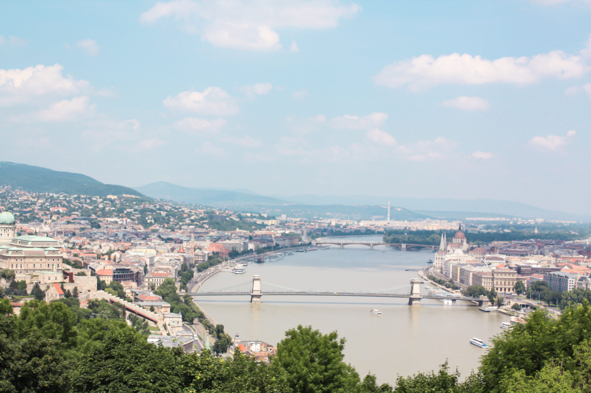 best places to visit in Budapest: views from gellert hill