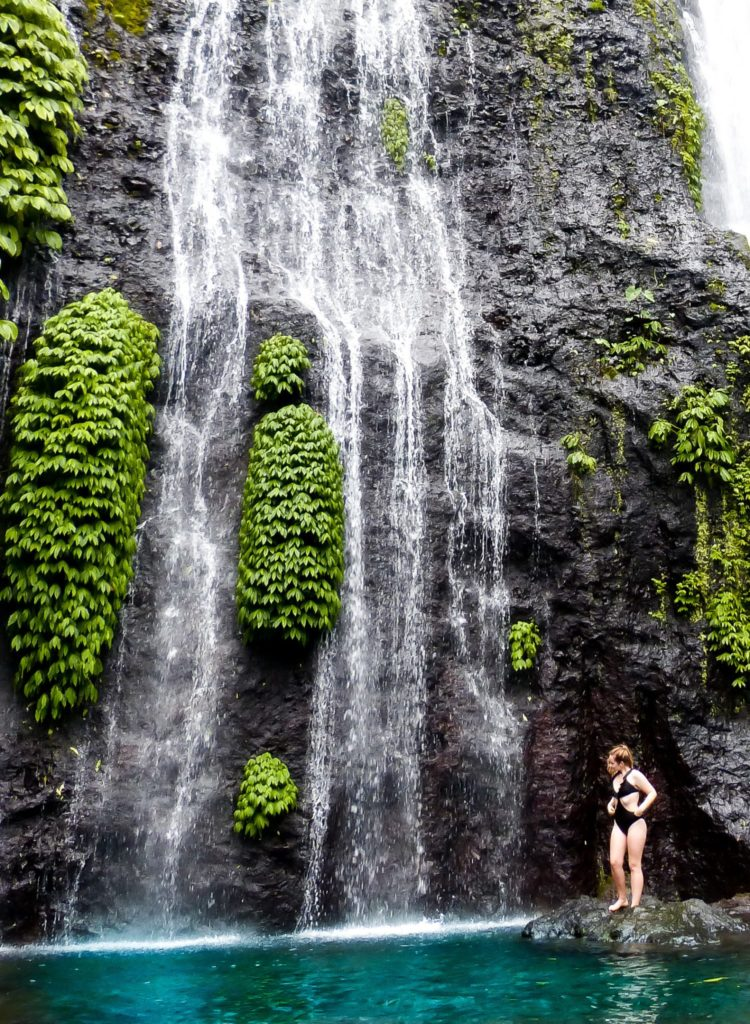 Bali travel route beauty: Banyumala twin waterfall