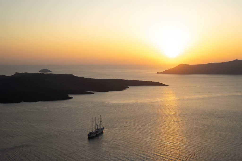 sunset greek islands