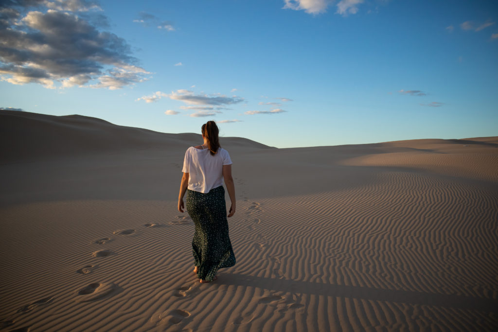 Things to do in Port Stephens: Stockton sand dunes at sunset