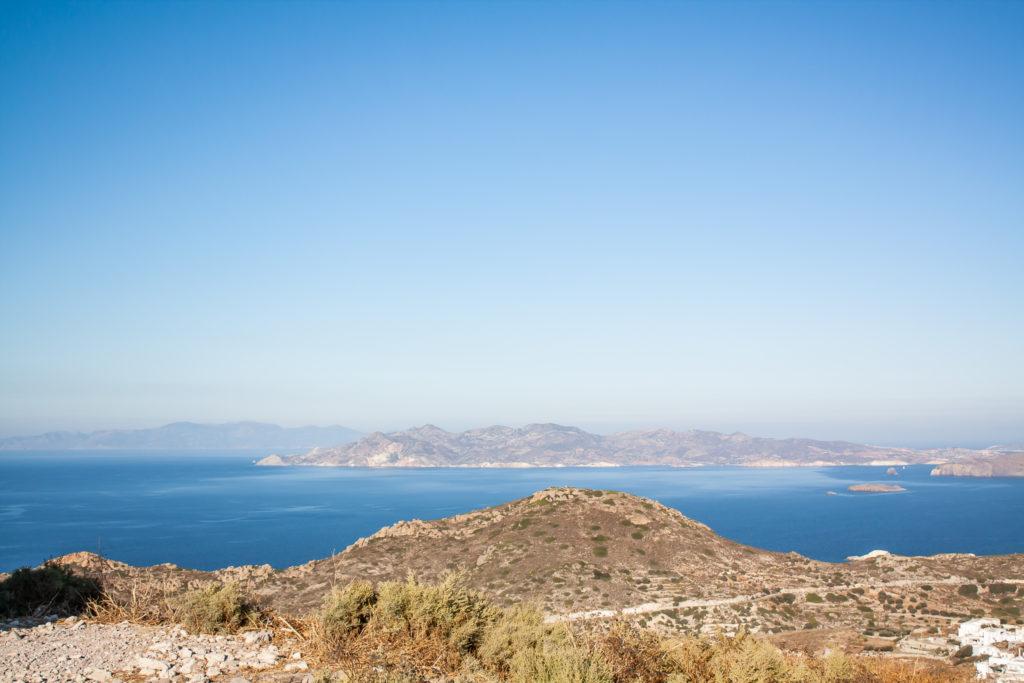Milos Greece: Venetian castle ocean view