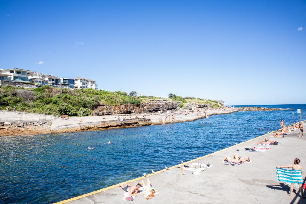 Bondi to Coogee walk: Clovelly beach