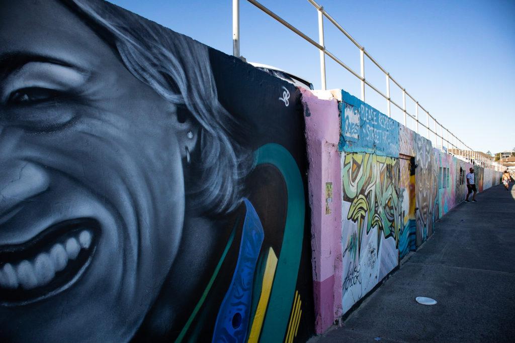 Bondi to Coogee walk: Bondi graffiti