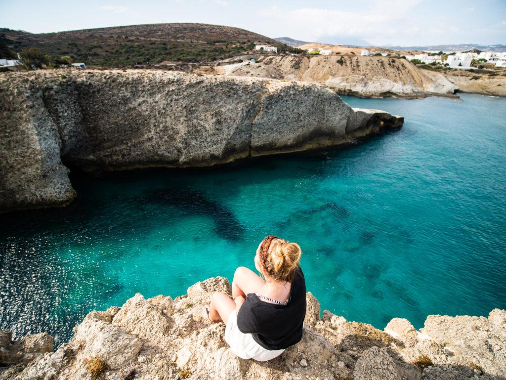 Milos Greece: Papafragas beach