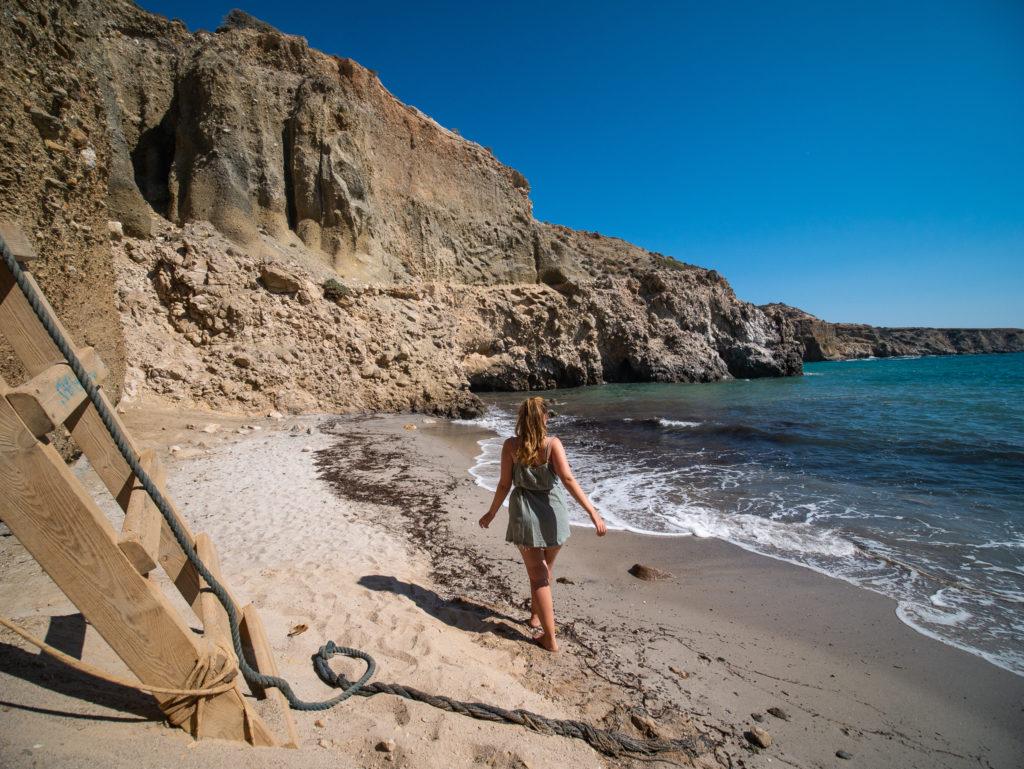 Milos Greece: Tsigrado Beach