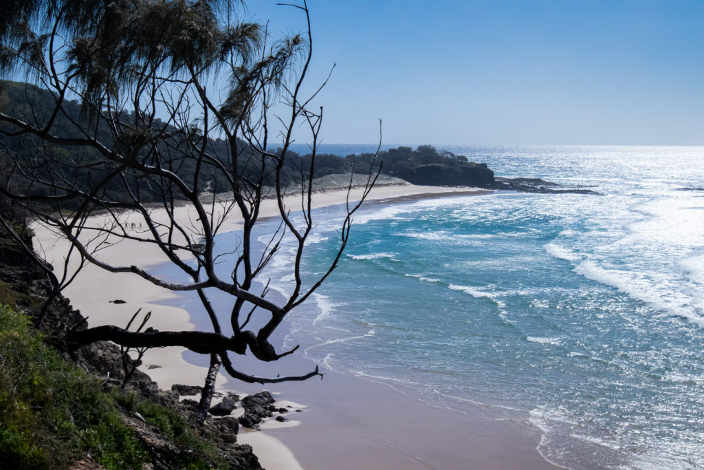 frenchmans beach from a lookout