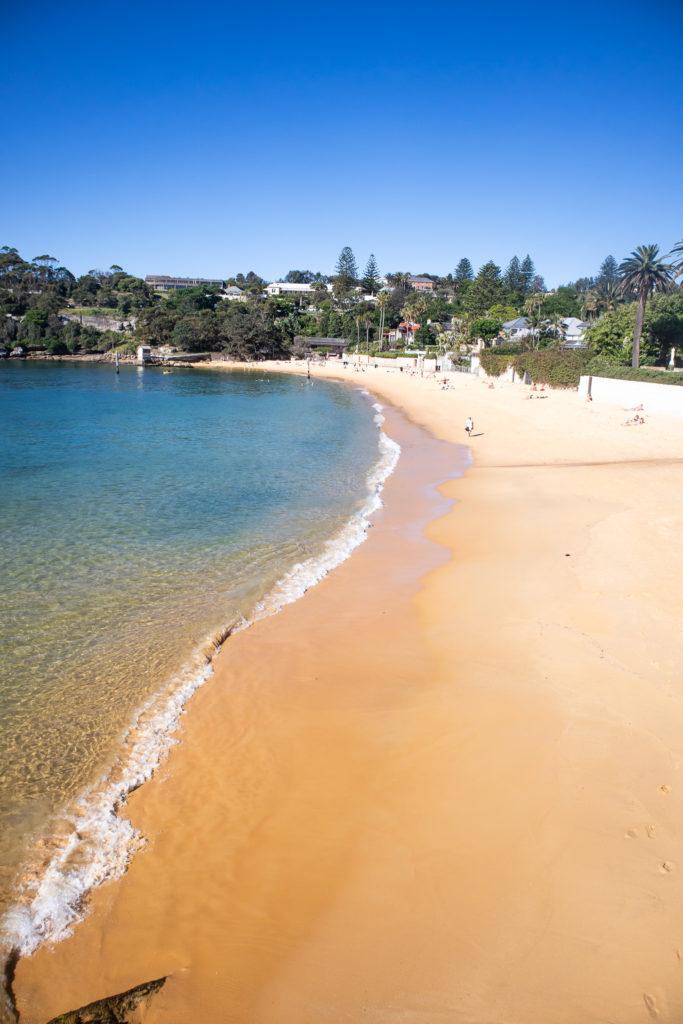 watsons bay walk: sandy beach