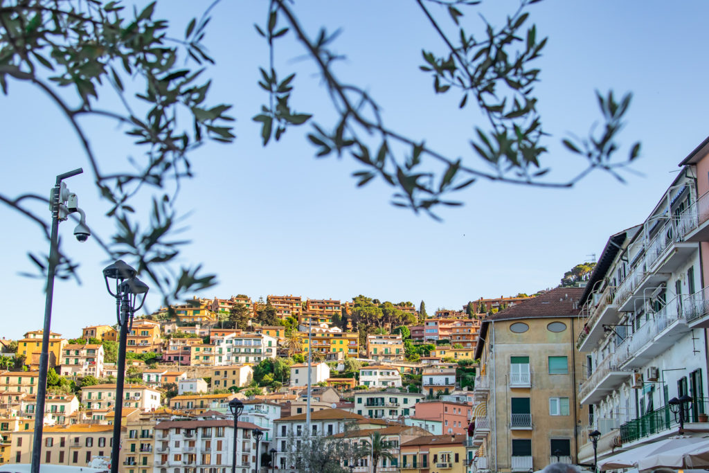 best places to visit in Tuscany: the colourful houses in porto santo stefano