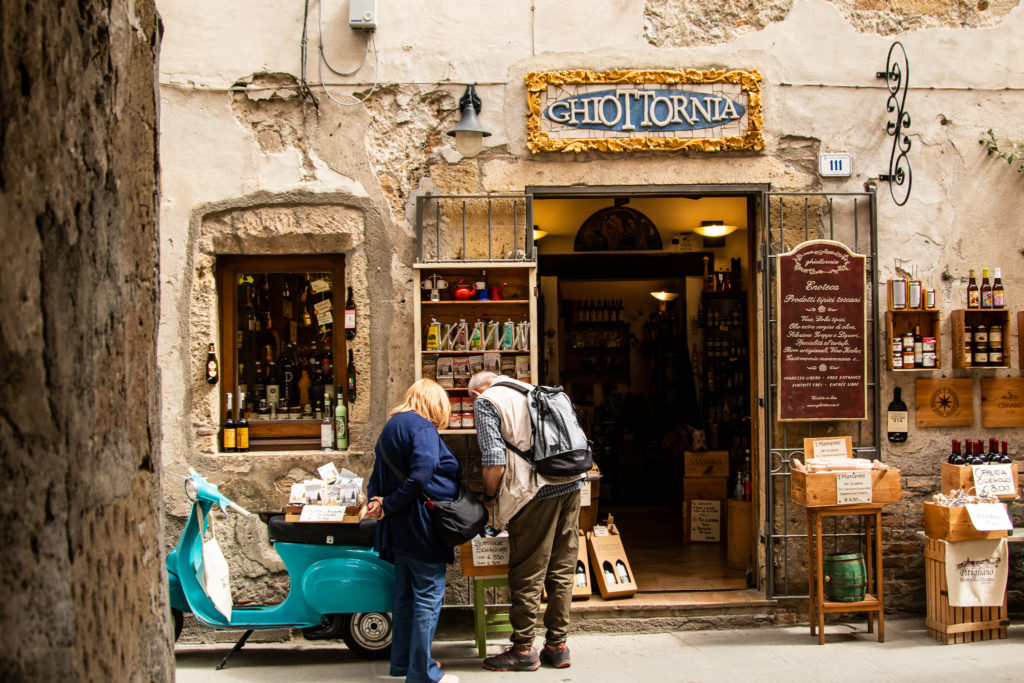 old town of Pitigliano in Tuscany
