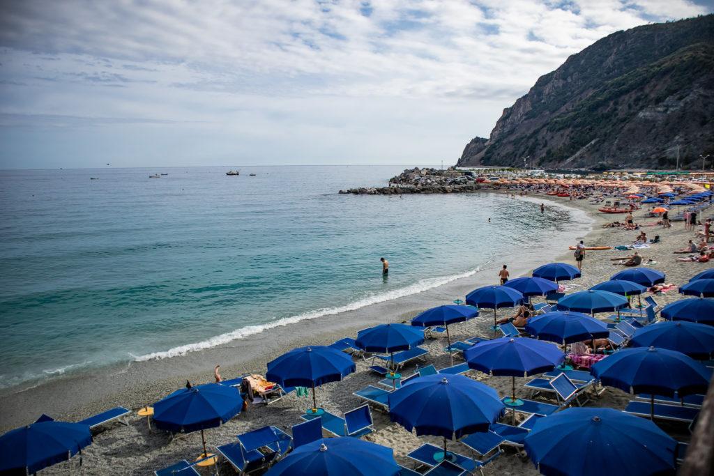 cinque terre italy: monterosso al mare beach