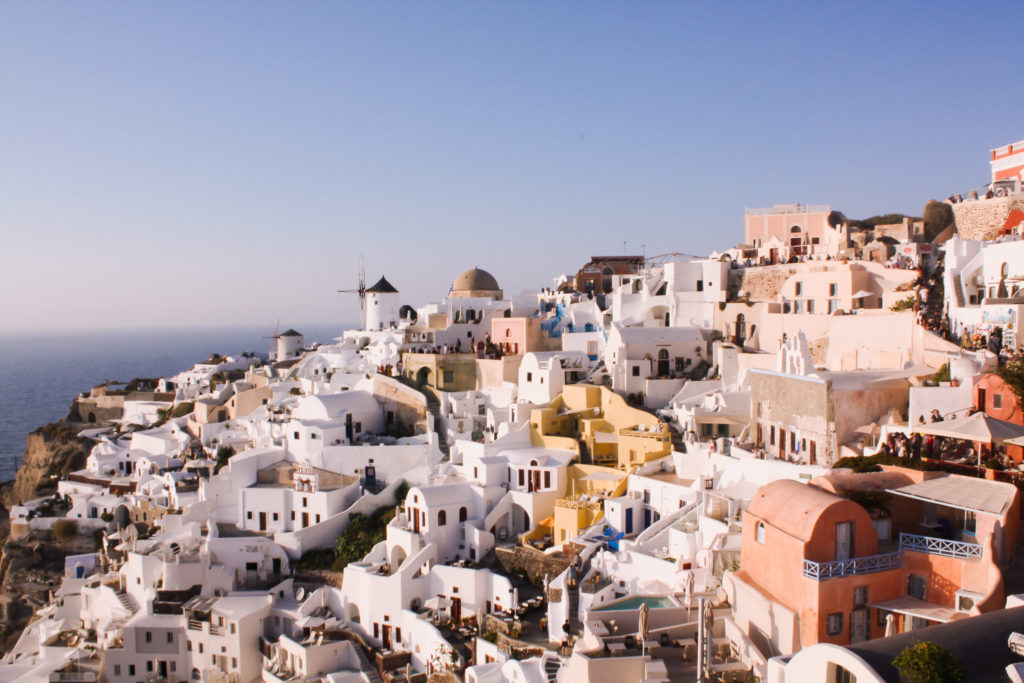 Things to do in Santorini; Lookout at Oia castle