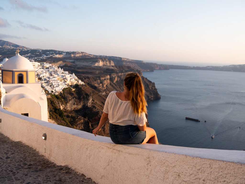 Things to do in Santorini: Sunset in Fira