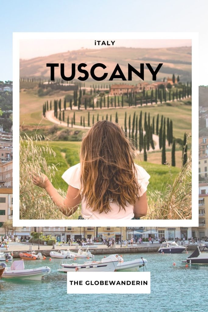 best places to visit in Tuscany Italy: me sitting in Tuscany Italy