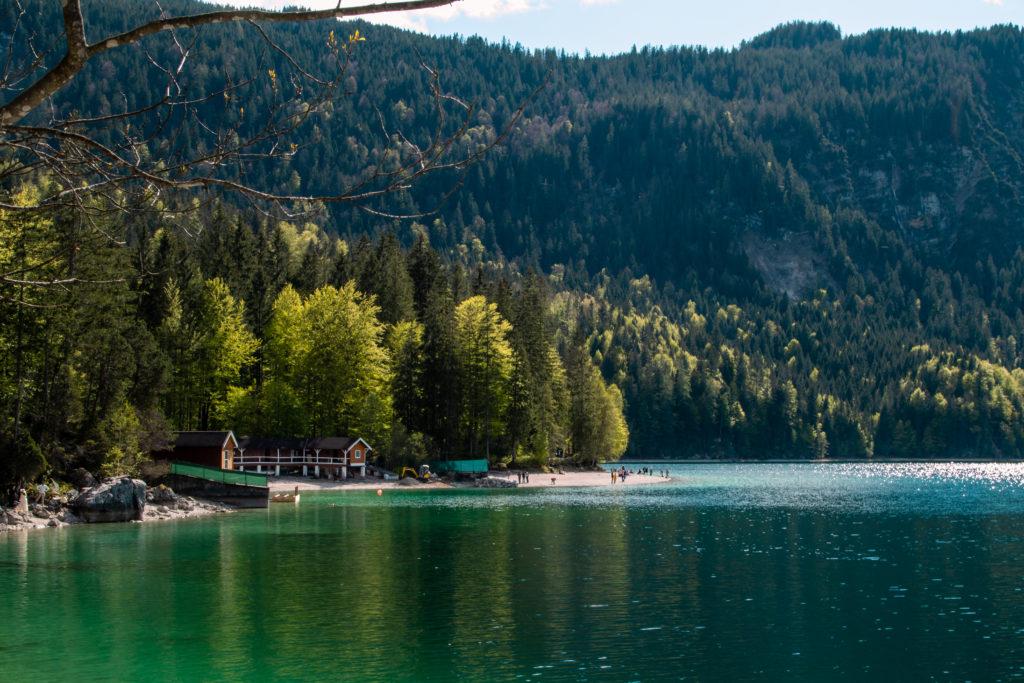 lake eibsee bavaria, the most beautiful lake in germany