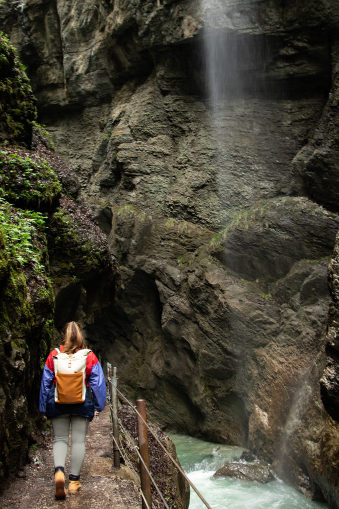 hiking in the Partnachgorge: one of the best things to do in bavaria