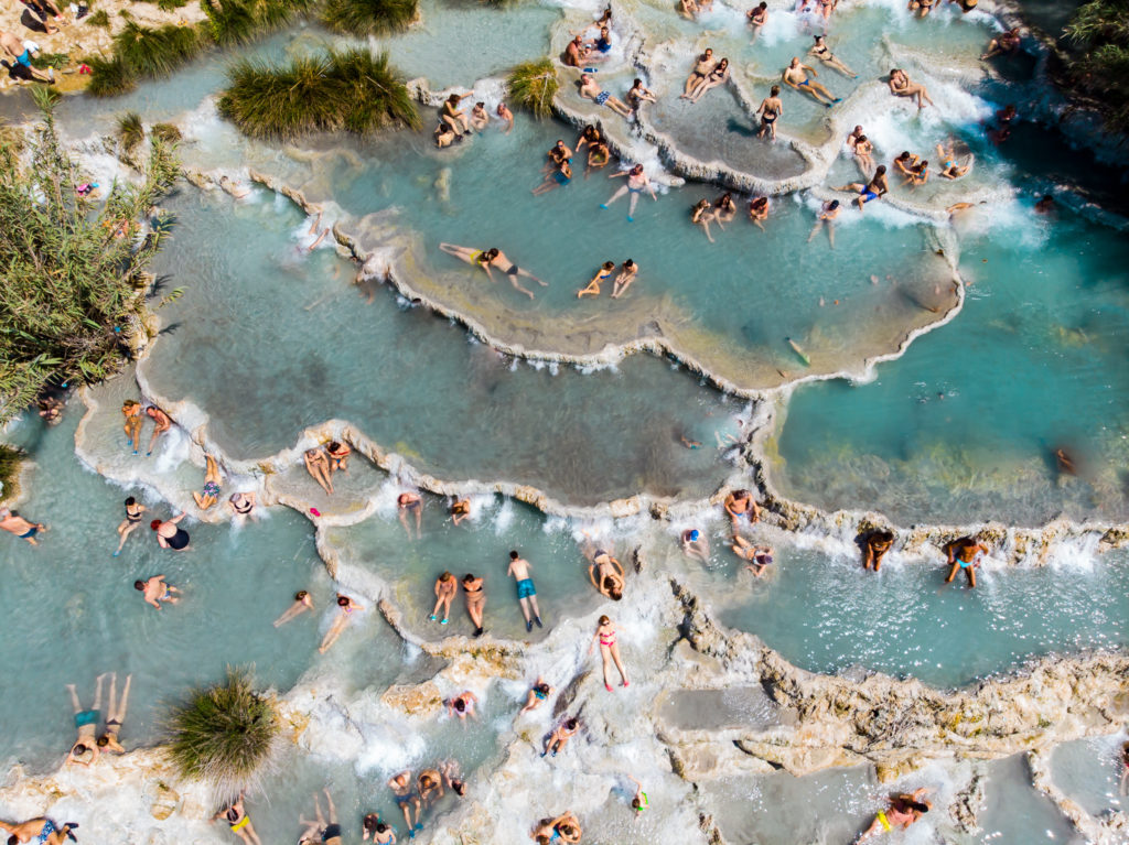 visit the saturnia hot springs