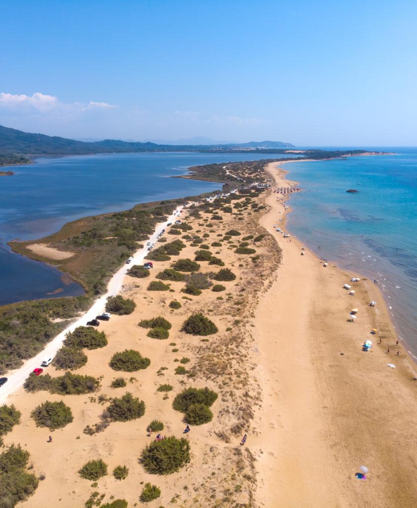 Corfu Greece Travel Guide: Drone shot Korrision beach