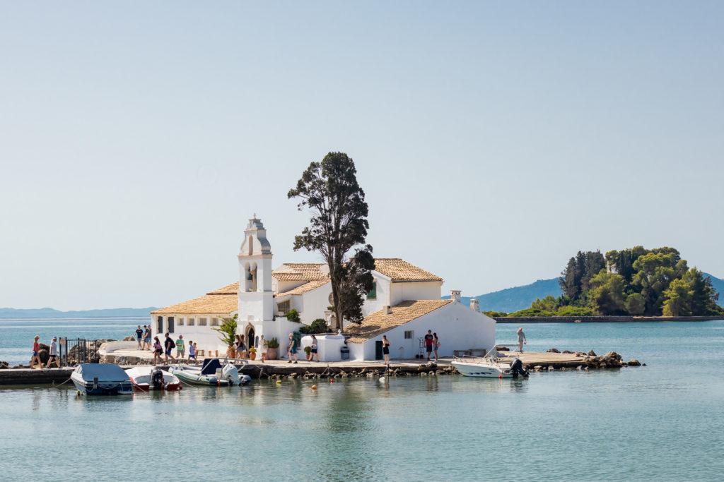 Corfu Greece Travel Guide: Vlacherna monastery