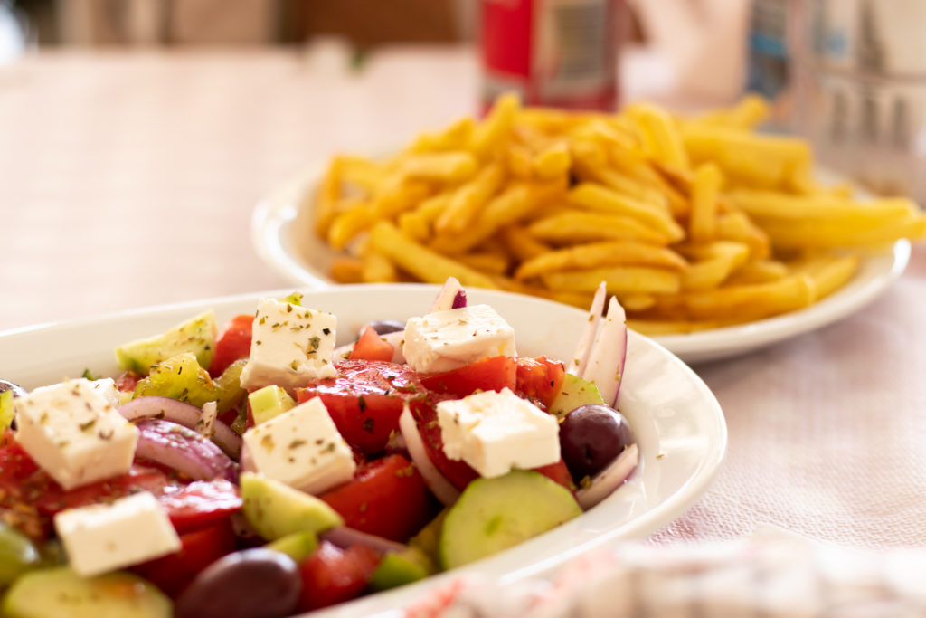 the best things to do in Corfu: greek salad