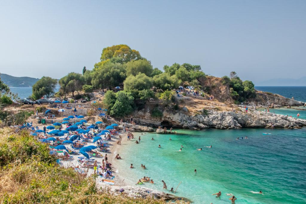 the best things to do in Corfu: bataria beach