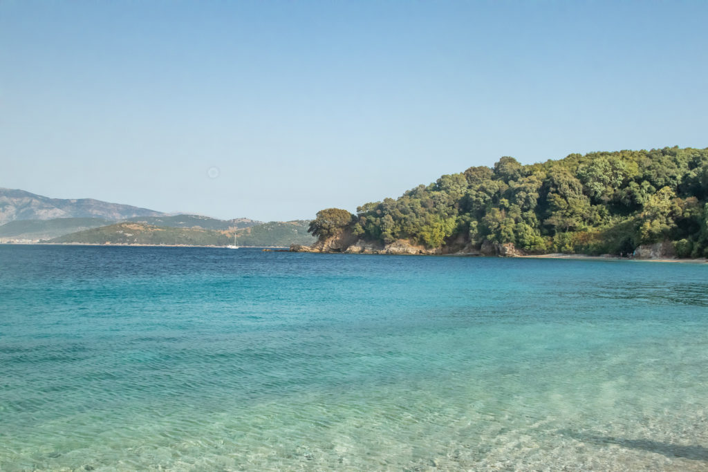 the best things to do in Corfu: Akoli Beach, crystal clear water