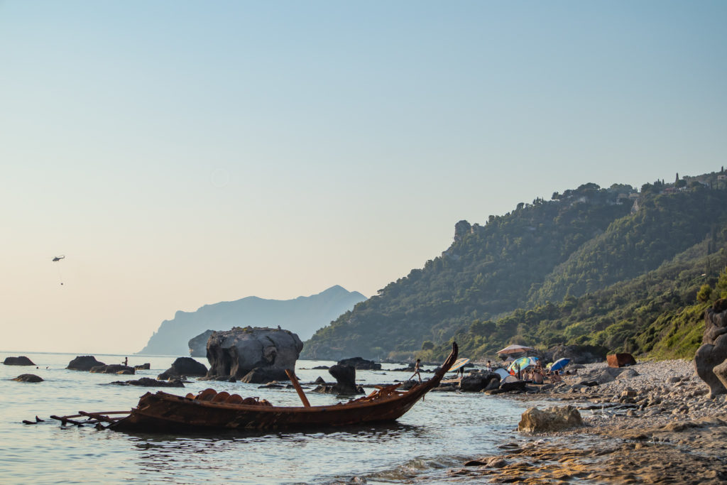 Corfu Greece Travel Guide: Shipwreck in Agios Gordios