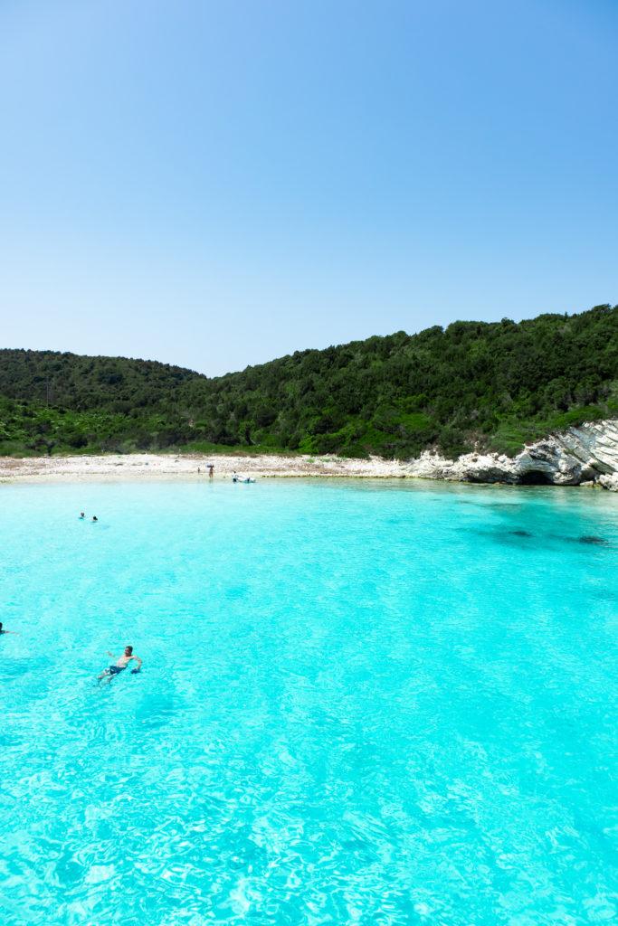 Corfu Greece Travel Guide: Antipaxos island blue clear water
